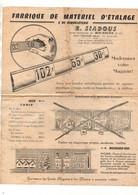 Publicité Fabrique De Matériel D'étalage & De Bimbeloterie R. Siadous à Toulouse- Format : 27x21cm - Advertising