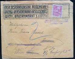 """Österreich, Bedarfsbrief """"Unfall-Versicherung"""" 10 Heller WIEN - Cartas"""