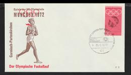 Germany Cover 1972 München Olympic Games - Torch Relay Garmisch-Partenkirchen (G130-11) - Summer 1972: Munich