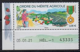 FRANCE - 2021 - ORDRE DU MERITE AGRICOLE - MEDAILLES - MEDALS - AWARD FOR AGRICULTURE - COIN DATE - DATED CORNER - - Unused Stamps