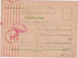 Hungary 1942, German Occupation, Feldpost Postcard To Budapest - Ungarn
