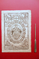 Xilografia Popolare Il Santissimo Rosario Sigla BS XVII Secolo Originale - Estampes & Gravures