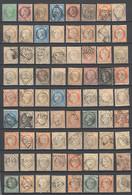 Frankreich , Interessantes Lot Mit 80 Alten Briefmarken . Stempelvielfalt - 1849-1850 Ceres