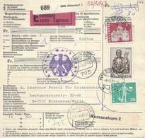 Express R Begleitadresse  Dübendorf - Winnenden          1968 - Brieven En Documenten