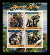 Sao Tome And Principe 2021 Mih. 9377/80 Fauna. Mona Monkeys MNH ** - Sao Tomé Y Príncipe