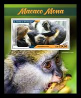Sao Tome And Principe 2021 Mih. 9381 (Bl.1705) Fauna. Mona Monkeys MNH ** - Sao Tomé Y Príncipe