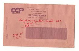 EnveloppeCCP Chèques Postaux Virements Automatiques Avec Publicité ...Pour Le Choix D'un Métier Carrières PTT - Advertising