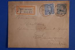 S24 PORTUGAL BELLE LETTRE RECOM 1897 VOYAGEE PORTO A  TOUL  FRANCE  +AFFRANCHISSEMENT PLAISANT - Brieven En Documenten