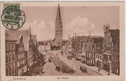 Ak Lüneburg, Am Sande 1922 Mit Vorderseitiger Infla-Frankatur - Lüneburg