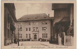 AK Oldenburg, Bahnhofstraße, Staatl. Kreditanstalt 1919 - Oldenburg