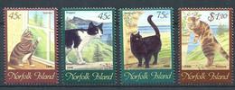 302 NORFOLK 1998 Yvert 631/34 - Chat - Neuf **(MNH) Sans Charniere - Norfolk Island