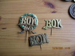 Lot De 3 Insigne Service Militaire Tirage Au Sort  BON Ruban - Other