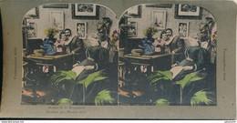 """Photo Stéréo : """"Mother Is In Dreamland"""" """"Pendant Que Maman Dort"""" - Cosmopolitain Série - Colorisée (BP) - Photos Stéréoscopiques"""