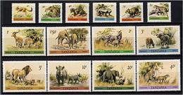 302 TANZANIE 1980 -Yvert 163/76 - Animaux Sauvages Girafe Panthere ... - Neuf **(MNH) Sans Charniere - Tanzania (1964-...)