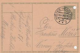 Czechoslovakia, Stationary, Cancelled Hoštice - Heroltice 20.II.30 - Covers & Documents