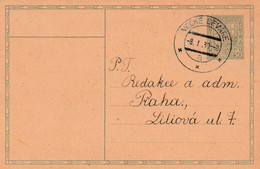 Czechoslovakia, Stationary, Cancelled Veľké Leváre, 8.I.30 - Covers & Documents