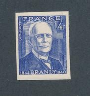 FRANCE - NON DENTELE N° 599a) NEUF** SANS CHARNIERE - COTE MINI : 25€ - 1944 - Non Dentellati
