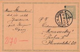 Czechoslovakia, Stationary, Cancelled Skripov Ve Slezsku, 10.I.30 - Covers & Documents