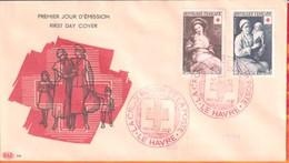"""FDC """" Edition PAC """" FRANCE-1953 # Croix Rouge ,Tableaux # Obl. PJ Le Havre (N°Yvert 966-67  ) Cote 40.00 Euros - 1950-1959"""