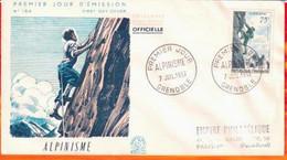 FDC- Edition  Coq  # FRANCE-1956 # Alpinisme  # Obl. PJ  Grenoble  (N°Yvert 1074 ) - 1950-1959