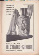 (pagine-pages)PUBBLICITA' RICHARD-GINORI  Le Vied'italia1937/05. - Other