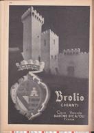 (pagine-pages)PUBBLICITA' BROLIO CHIANTI  Le Vied'italia1937/05. - Other