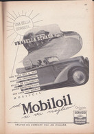 (pagine-pages)PUBBLICITA' MOBILOIL  Le Vied'italia1937/05. - Other