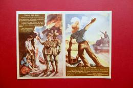 Cartolina Doppia RSI Due Mondi Propaganda WW2 Guerra 1944-45 Originale Rara - Andere