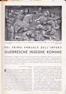 (pagine-pages)INSEGNE ROMANE DI GUERRA  Le Vied'italia1937/05. - Other
