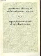 International Directory Of Eighteenth-century Studies - Répertoire International Des Dic-huitièmistes - Société Internat - History