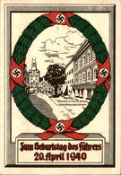 Deutsches Reich - Postkarte Zum Geburtstag Des Führers - 20 April 1940 - Wien - FDC - Brieven En Documenten