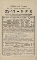 Publicité Keinborg Fernand Paris Voiture Automobile De Place Munie Taximètre Tarifs Explication Manœuvre Compteur - Advertising