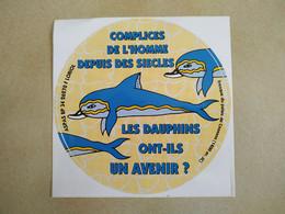 AUTOCOLLANT STICKER - LES DAUPHINS ONT-ILS UN AVENIR? - ASPAS 26270 LORIOL – FRESQUE PALAIS CNOSSOS CRÊTE - Stickers