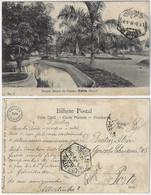 Brazil Bahia 1914 PostcardParque Duque De Caxias Park In Salvador Editor J. Mello Nº 18 Sent To Porto Portugal - Salvador De Bahia
