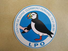 AUTOCOLLANT STICKER - LPO - LIGUE DE PROTECTION DES OISEAUX – CENTRE DE SOINS CLERMONT-FERRAND - Stickers