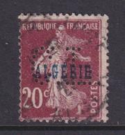 Perforé/perfin/lochung Algérie 1924 No DZ13  C.L. Crédit Lyonnais (13) - Oblitérés