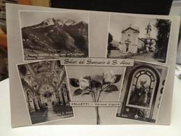 Cartolina Saluti Dal Santuario Di S.Anna Valletti Frazione Di Varese Ligure Prov La Spezia, Monte Veruga - La Spezia