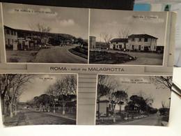 Cartolina Saluti Da Malagrotta Prov Roma,trattoria E Dispensa, Via Aurelia, Scuole E Casa Cantoniera 1961 - Other