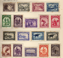 Congo Belge (1931-37) -  Serie Courante - Paysages - Personnages -   Neufs* - MH - Impuestos: Nuevos