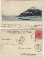 Brazil Bahia 1908 PostcardSão Diogo Fort And Santo Antônio Church In Salvador Editor Reis & Co Sent To Lierneux Belgium - Salvador De Bahia