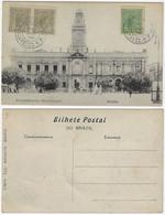 Brazil Bahia 1920 PostcardMunicipal Council In Salvador Editor Almeida With 3 Stamp Republican Allegory - Salvador De Bahia