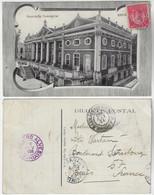 Brazil Bahia 1909 Postcardbuilding Of The Commercial Association In Salvador Editor Almeida Sent To Paris France Stamp - Salvador De Bahia