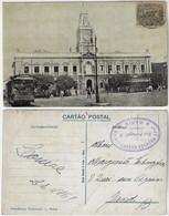 Brazil Bahia 1923 Postcardmunicipal Office In Salvador Editor Almeida & Filho Sent To Ghent Belgium Vovó 20 Réis Stamp - Salvador De Bahia