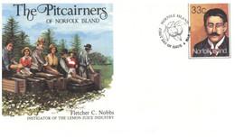 (PP 32) Australia Norfolk Island - FDC - The Pitcairners (4 Covers) - Norfolk Island