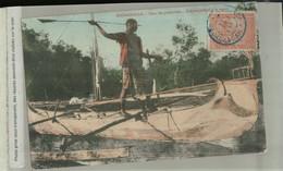 Madacascar Dans Les Pélétuviers Indigène Pêchant à La Sagaie ( Timbre Oblitération MAJUNGA) ( Mai 2021 141) - Madagascar