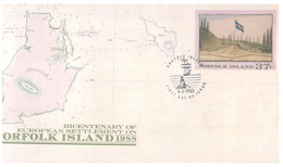 (PP 32) Australia Norfolk Island - FDC - (3 Covers) Map - Bowling - Lions Club District - Norfolk Island