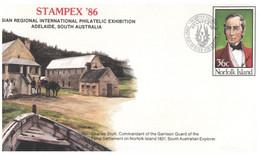 (PP 32) Australia Norfolk Island - FDC - (3 Covers) Stampx 85 - ANPEX 82 - Bowling - - Norfolk Island