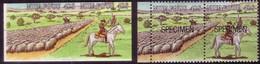 TONGA 1988 Cromalin Proof PAIR - Sheep Muster By Horse - 5 Exist - Boerderij