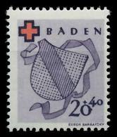 FRANZ. ZONE BADEN Nr 43A Postfrisch X87FFEA - Französische Zone