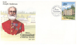 (PP 32) Australia Norfolk Island - FDC - (3 Covers) Island Governors, Anderson - Childs - Maconohie - Norfolk Island